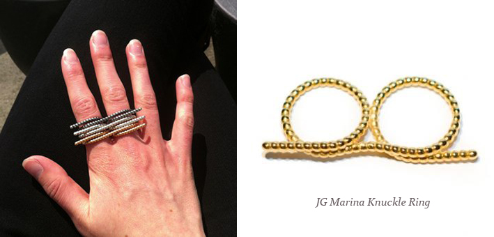 JG Marina Knuckle Ring - Madeofjewelry
