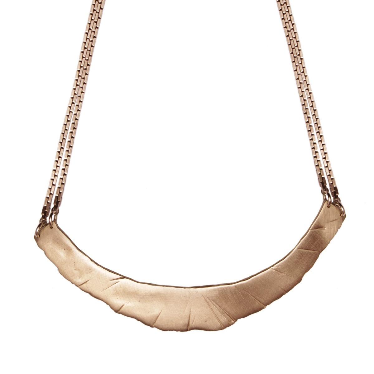 TK bronzeboldpalisadenecklace  - madeofjewelry