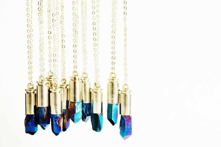 MAGICAL Blue Rainbow crystal catus - madeofjewelry