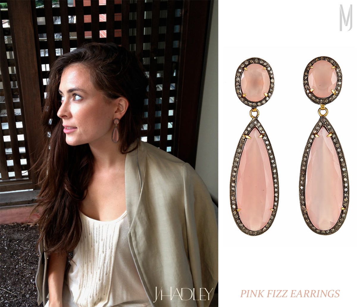 Pink Fizz earring JHadley Ashley - madeofjewelry