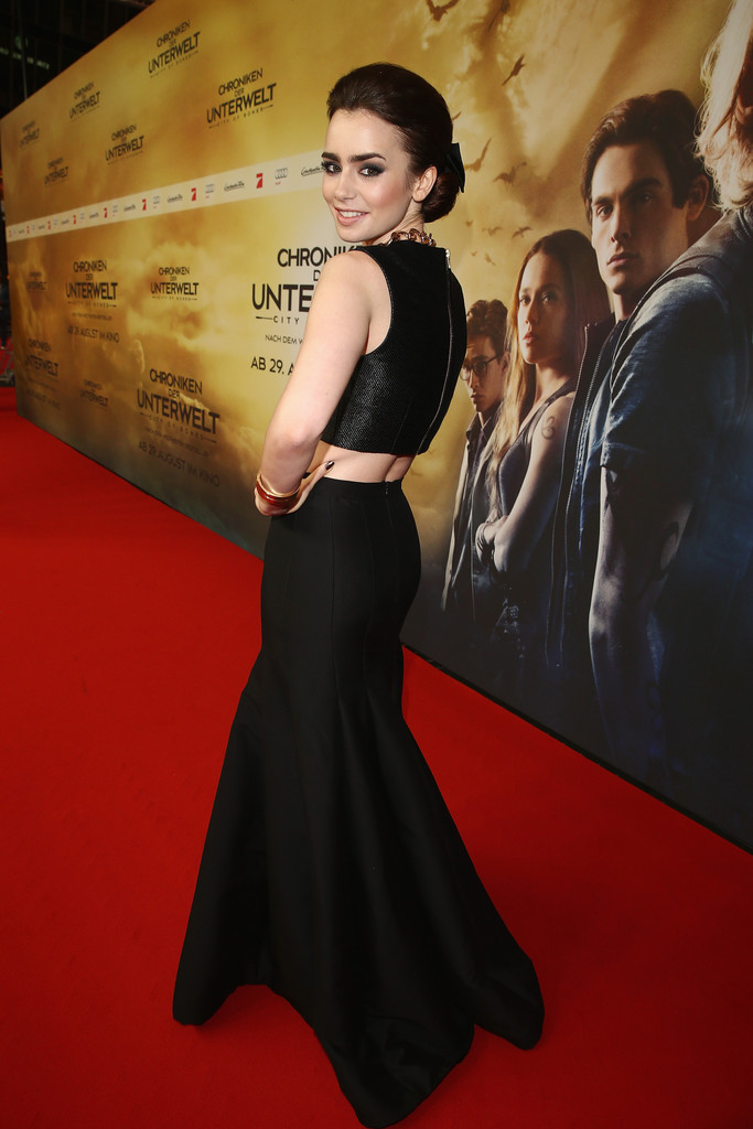 lily collins germany premiere - madeofjewelry