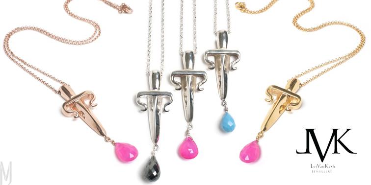 dagger drop necklaces LeiVanKash - madeofjewelry