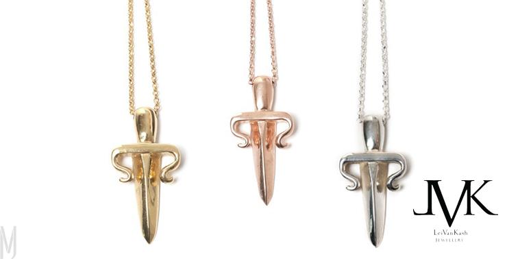 dagger necklaces LeiVanKash - madeofjewelry