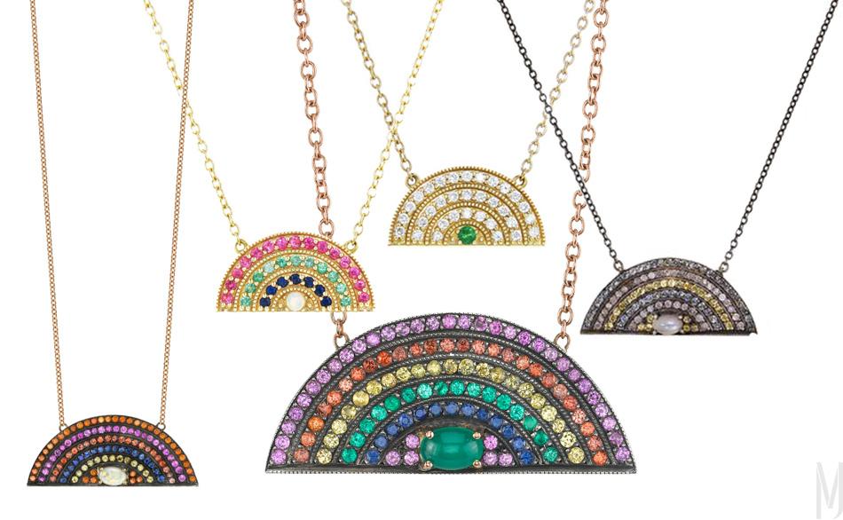 andrea fohrman raibbow pendants - madeofjewelry
