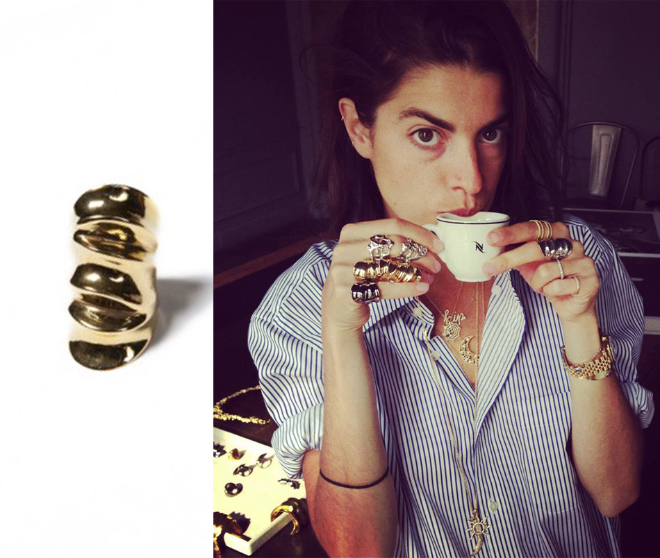 annelisemichelson manrepller scuptural draped ring - madeofjewelry