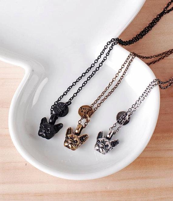 bulldog necklace yaci - madeofjewelry