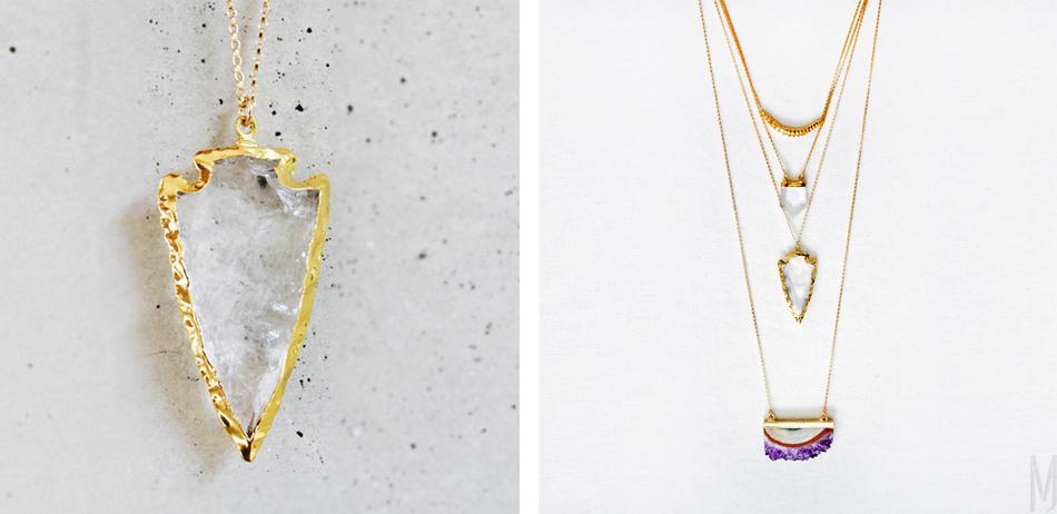keijewelry arrowhead crystal - madeofjewelry
