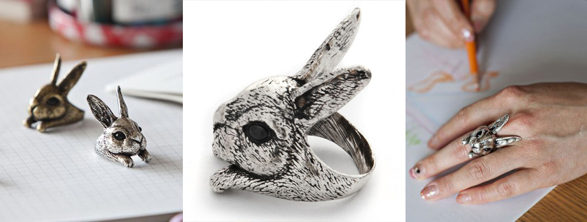 kirby rabbit ring by Yaci - madeofjewelry
