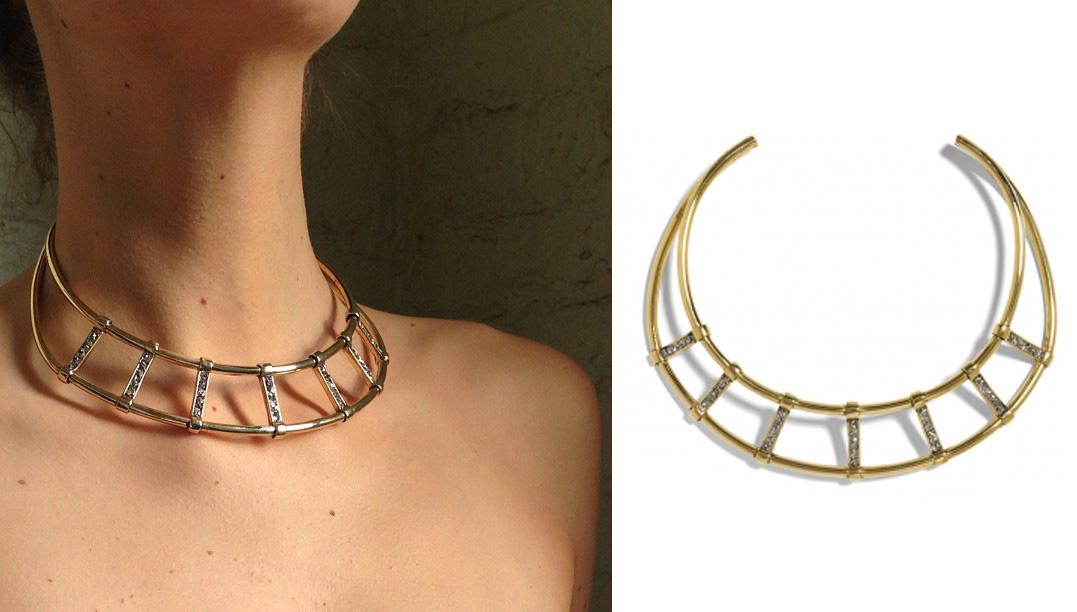 ladygrey cage collar - madeofjewelry