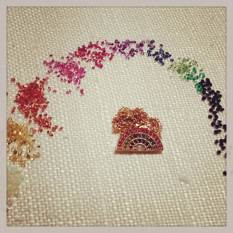 rainbow pendant andrea fohrman - madeofjewelry