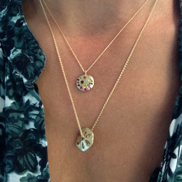 sand dollar and rainbow by polly wales - madeofjewelry