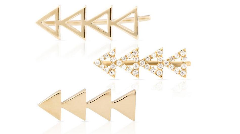 smithmara triangle earring - madeofjewelry