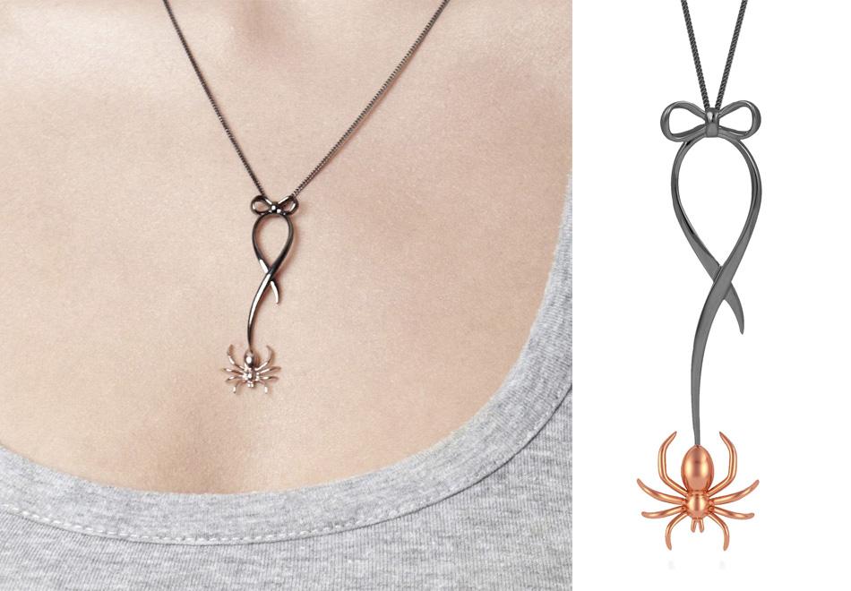 violetDarkling Spider necklace - madeofjewelry