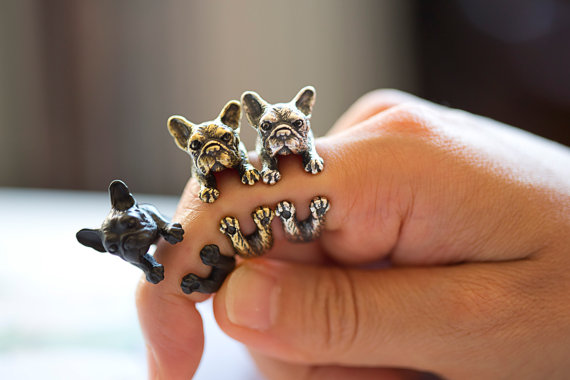 yaci french bulldog ring - madeofjewelry