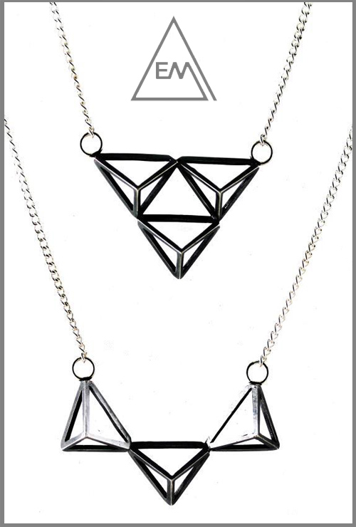 emma macleod triangle necklaces - madeofjewelry
