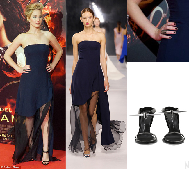 jennifer lawrence outfit Dior - madeofjewelry