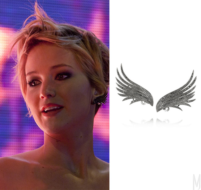 jennifer lawrence wing earring pfeiffer - madeofjewelry