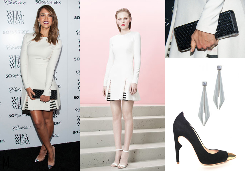 jessica alba whowhatwear cadillac outfit - madeofjewelry