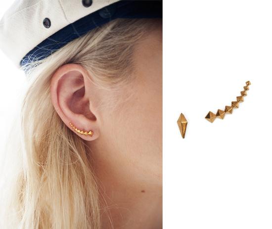 luv aj petite punk earcuff - madeofjewelry