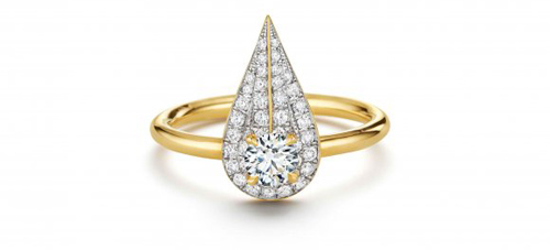 House of Waris drop ring forevermark - madeofjewelry