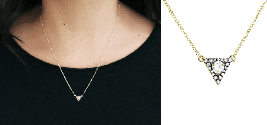 jemma wyne rose cut triangle necklace - madeofjewelry