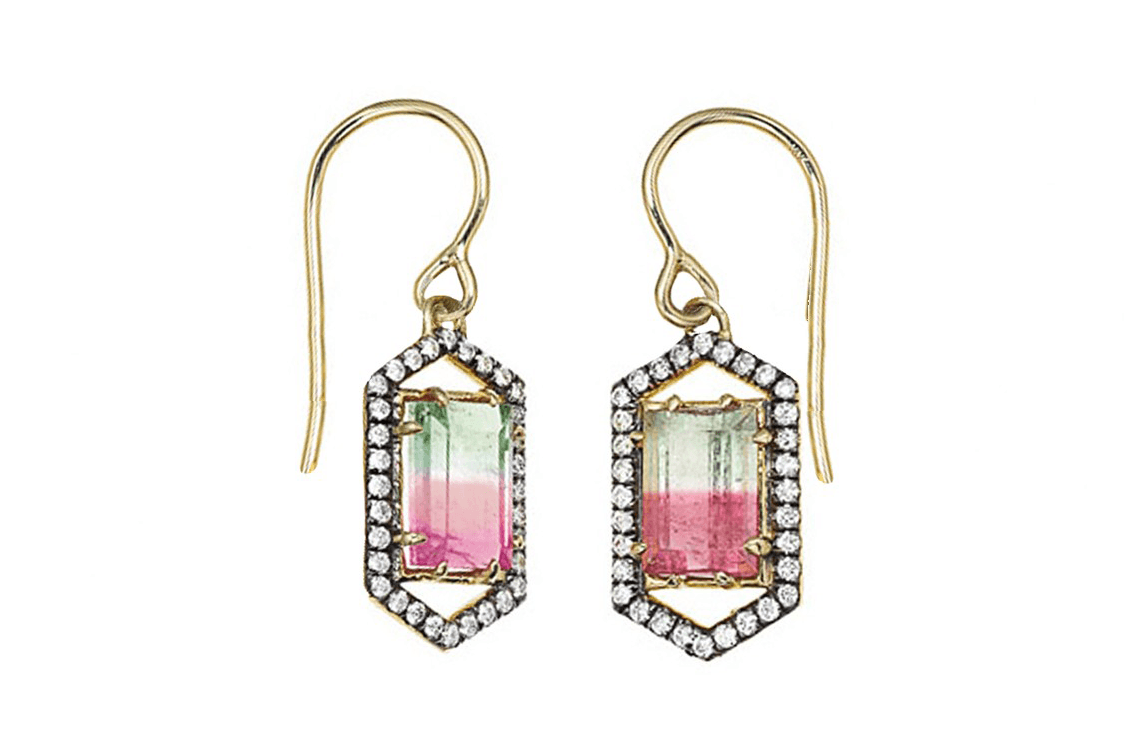 jemma wynne Bi Color Tourmaline-Earrings - madeofjewelry (1)