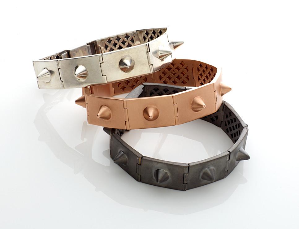 jillian dempsey spike bracelets - madeofjewelry