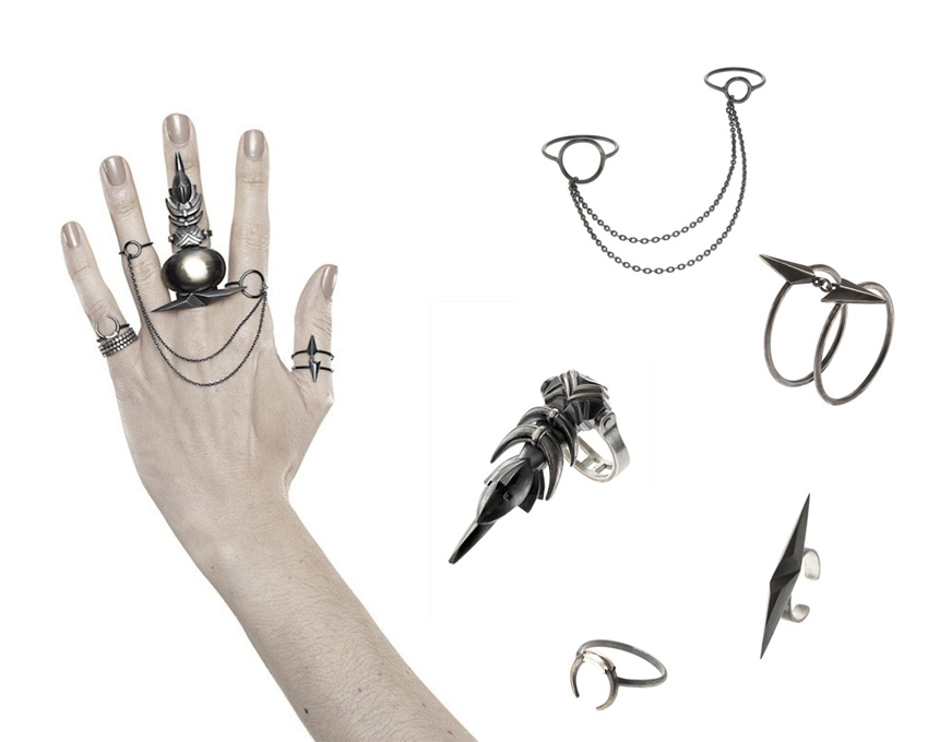 maria black rings combo - madeofjewelry