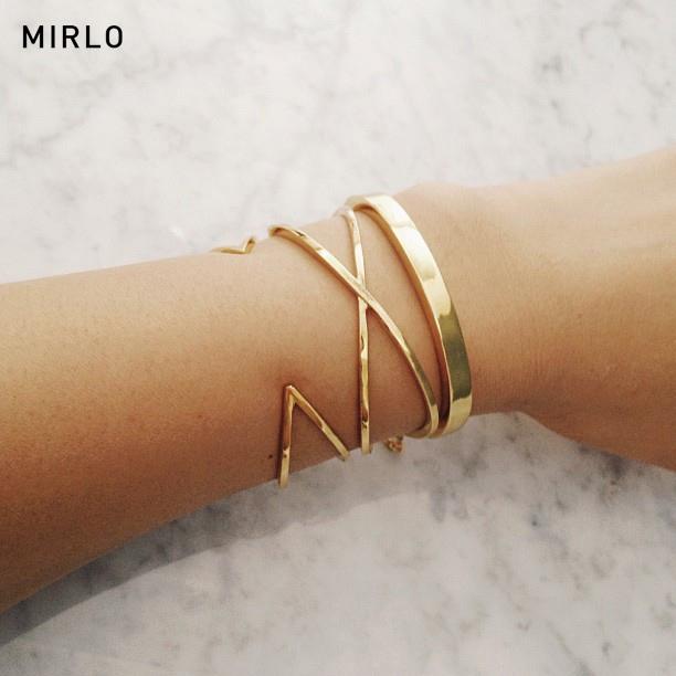 mirlo horseshoe x cuff - madeofjewelry