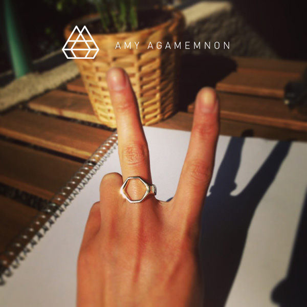 amy agamemnon hexagon ring - madeofjewelry