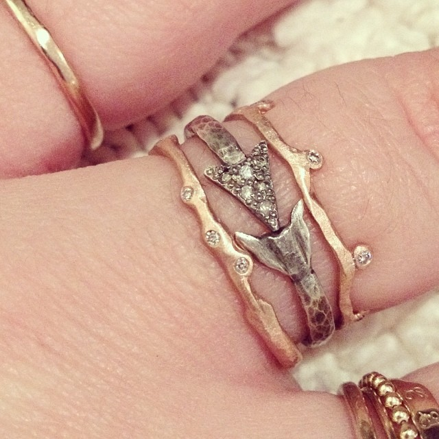 rebecca lankford rings stack - madeofjewelry
