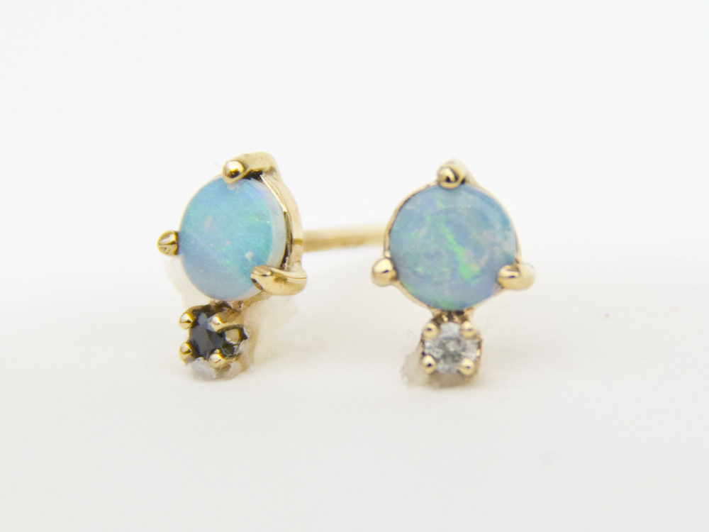 wwake Opal Diamond Earrings - madeofjewelry