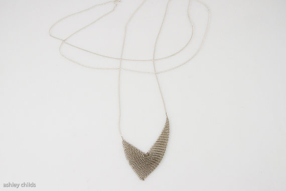 ashley childs long mesh triangular - madeofjewelry