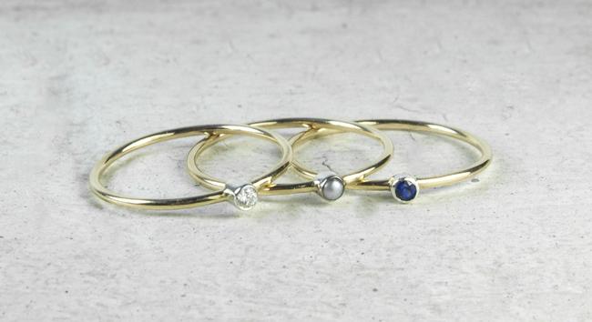 ivynixonjewellery skinny rings  - madeofjewelry
