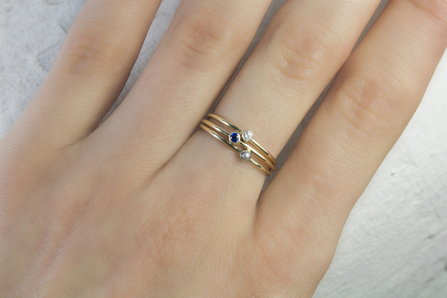 ivynixonjewellery stacking rings  - madeofjewelry
