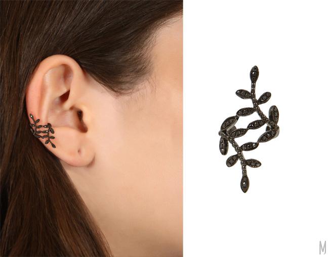 joelle jewellery diamonds leaf earcuff - madeofjewelr