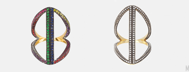 noor fares long rhombus ring - madeofjewelry