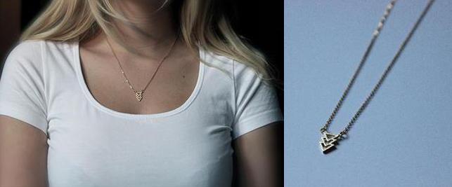 zoeca jewelry triangle necklace - madeofjewelry