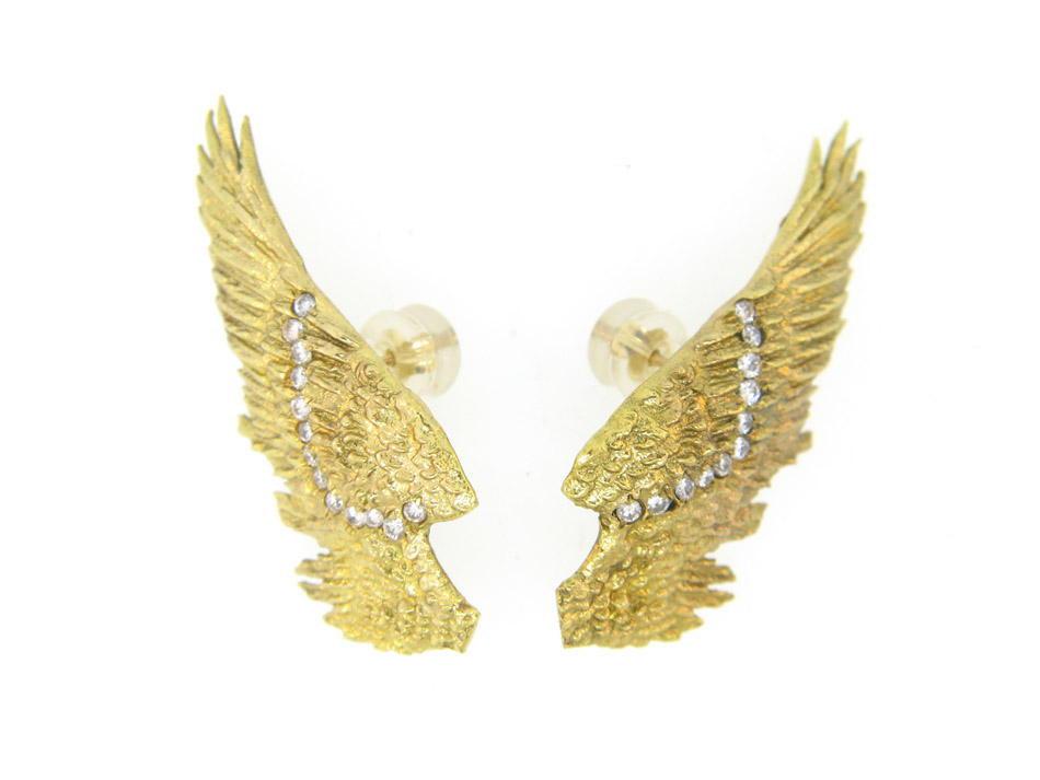 atelier minyon AngelWingEarrings - madeofjewelry