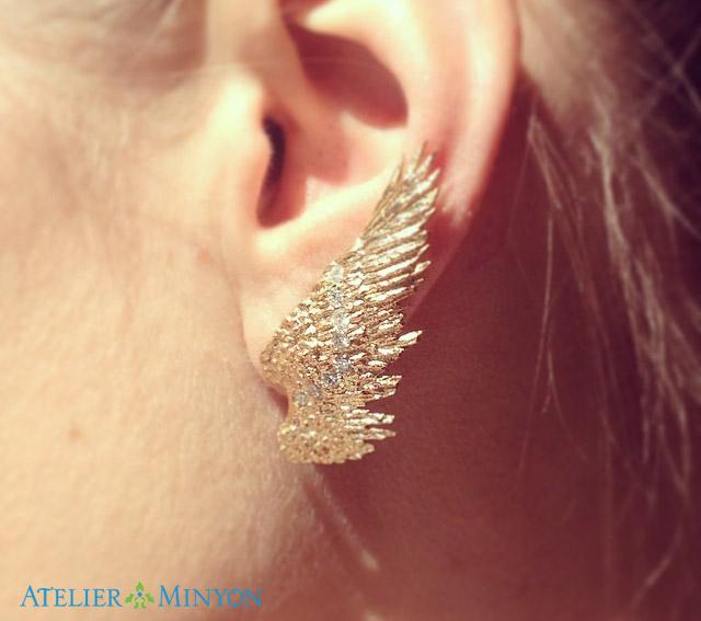 atelier minyon angel earring - madeofjewelry