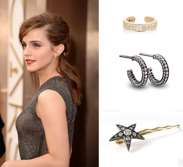 emma watson oscars earrings - madeofjewelry