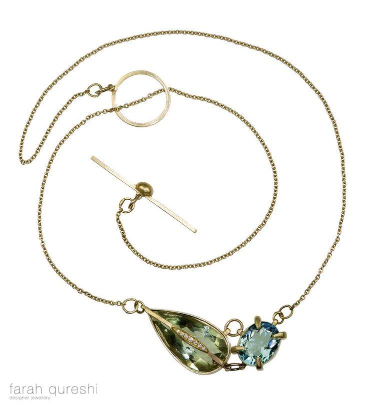 farah qureshi two stone pendant - madeofjewelry