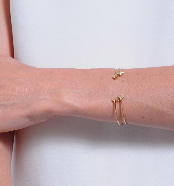 michelle fantaci esterella diamond gold cuff - madeofjewelry