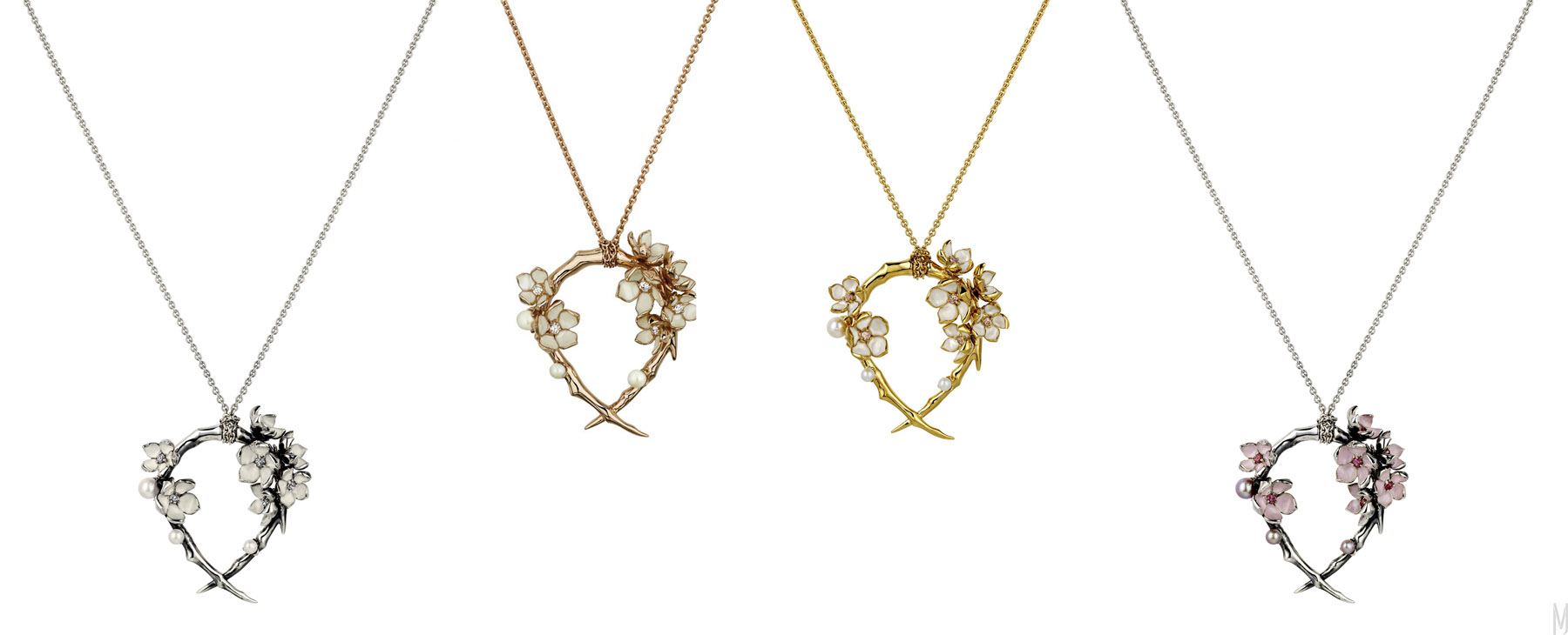 shaun leane cherry blossom hoop necklaces - madeofjewelry