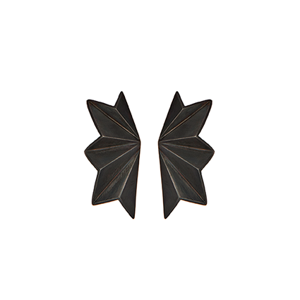 stinne holm folded stud - madeofjewelry