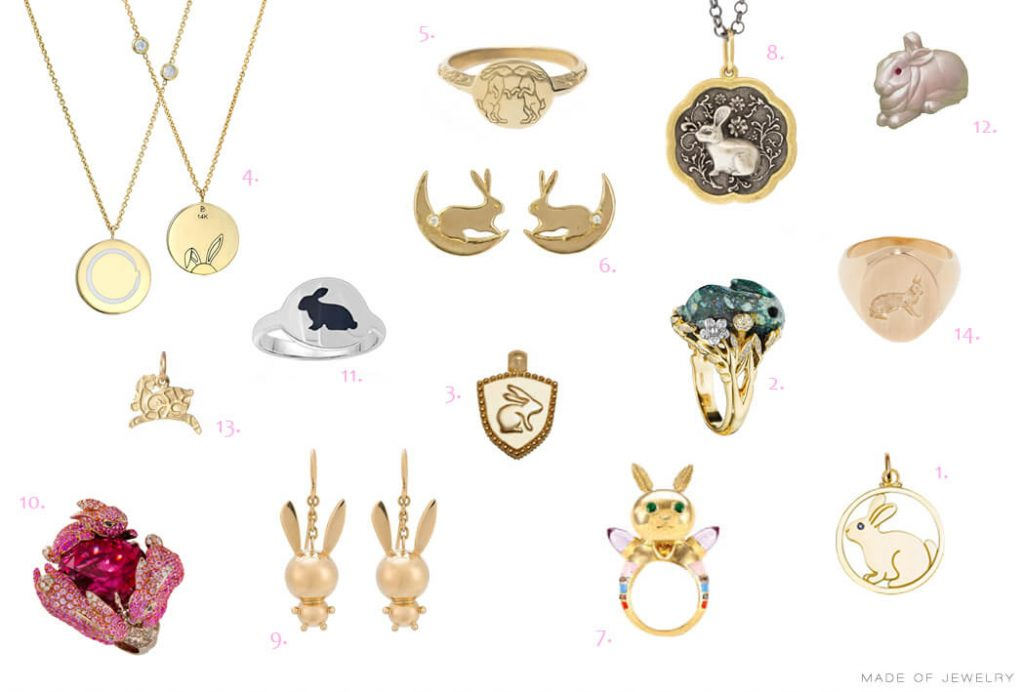 Bunnies in jewelry